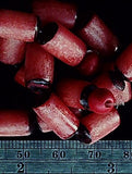 Red betel nut 10mm x 8mm tube bead 14 inch strand