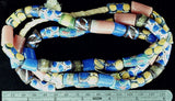 Blue and multicolor bead mix  32 inch strand