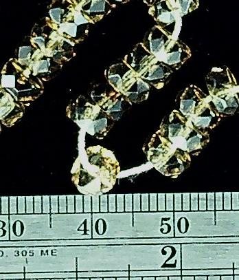 Pale yellow/ champagne faceted rondelles 3mm x 6mm celestial crystal beads  15 inch strand
