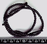 Black coconut 2-3mm heishi beads  16 inch strand
