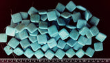 Blue Chinese turquoise 20mm square / 24mm linear diamond beads 15 inch strand