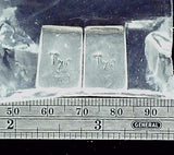 Metal etched rectangle double sided 2 pendant beads