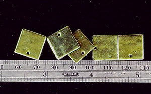 Green flat 14mm square  5 pendant lot