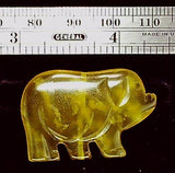 Pig green stone carved pendant bead (1)