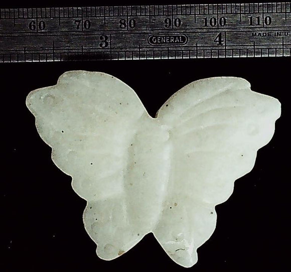 Butterfly ivory stone carved focal bead (1)