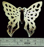 Butterfly golden open carved shell focal bead (1)