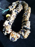 Frogs on black/mixed glass bead strand set