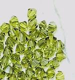Green Swarovski  crystal 5mm bicone 60 bead lot