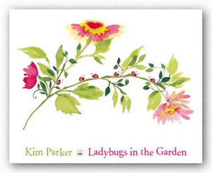 Lady Bugs in the Garden by Kim Parker