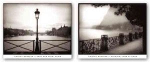 Evening, Lago di Como and Ponts des Arts, Paris Set by Timothy Wampler