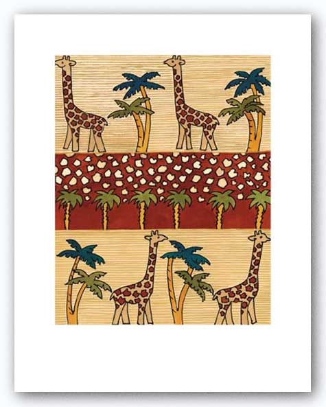 Giraffe Stroll I by Dominique Gaudin