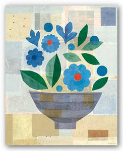 Blue Flower Vase by Gale Kaseguma