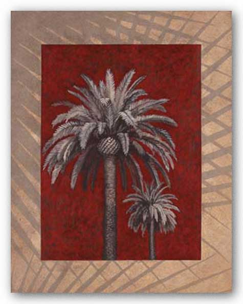 Palm Study On Red by Adam Guan