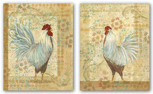 Provence Hen and Rooster Set by Grace Pullen
