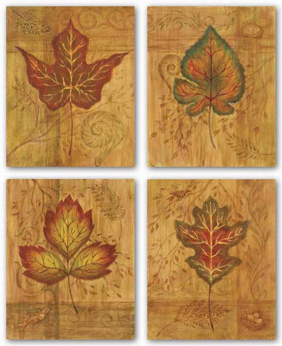 Autumn Leaf Set by Marcia Rahmana