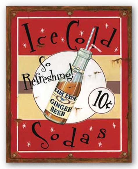 Ice Cold Sodas by Lesley Hallas