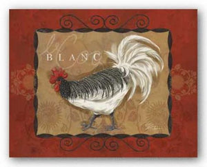 Rooster Blanc by Shari Warren
