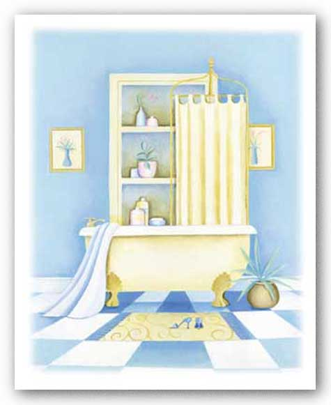 Blue Bathroom I by Alexandra Burnett