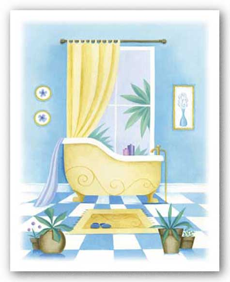 Blue Bathroom II by Alexandra Burnett