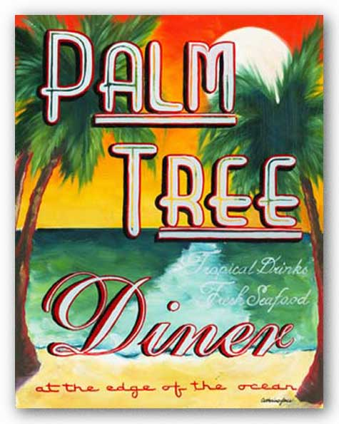 Palm Tree Diner by Catherine Jones