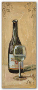 White Wine With Glass by Shari White