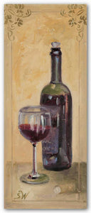 Red Wine With Glass by Shari White