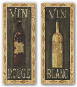 Vin Blanc and Vin Rouge Set by Grace Pullen