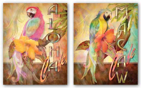 Macaw Cafe and Aloha Cafe by Alma Lee