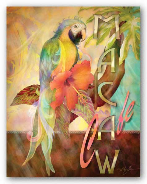 Macaw Cafe by Alma Lee