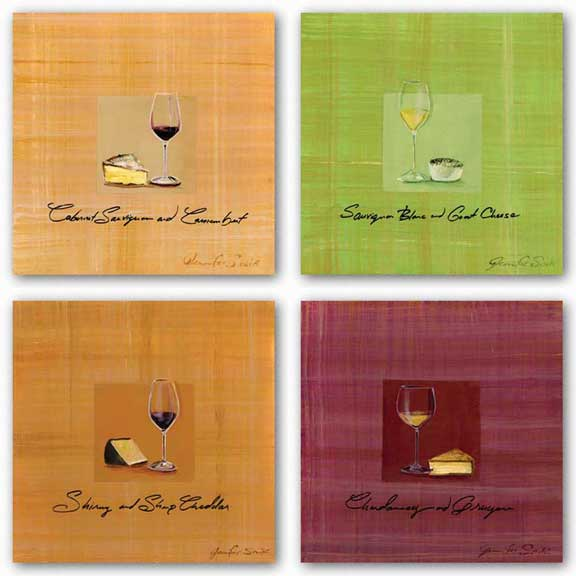 Wine and Cheese Set by Jennifer Sosik
