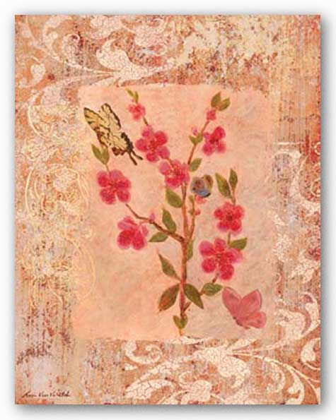 Butterflies And Blossoms III by Lisa Ven Vertloh