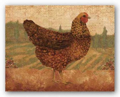 Tuscan Hen I by Lisa Ven Vertloh