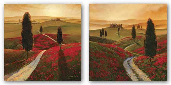 Poppies and Tuscany Set by Thomas McGrath