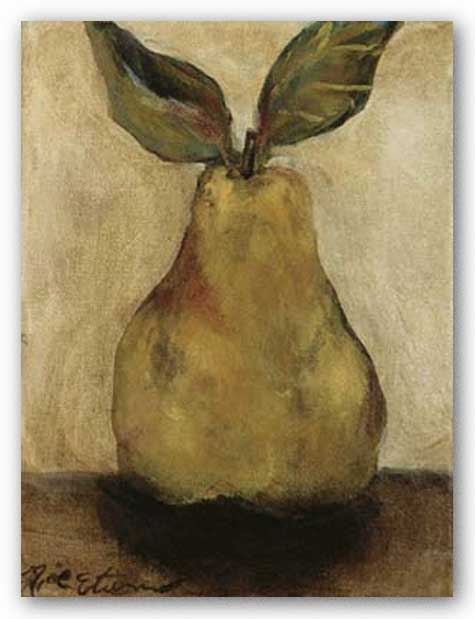 Golden Pear On Beige by Nicole Etienne