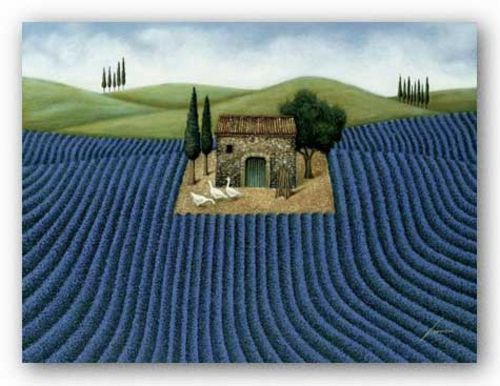 Lavender Field  by Lowell Herrero