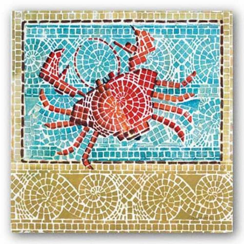 Mosaic Crab by Susan Gillette