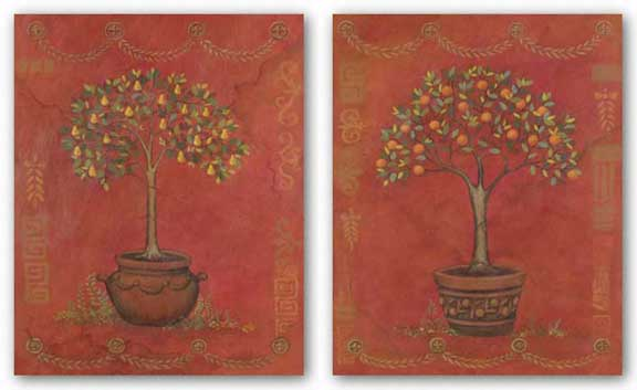 Topiary Fresco Orange and Pear Set by Adam Guan