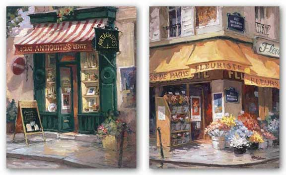 Antiquities and Colorful Corner, Paris Set by George Botich