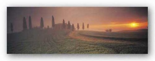 Tuscany House Sunset by Peter Adams