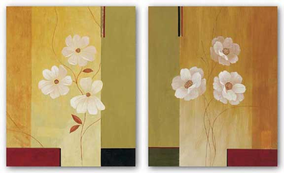 Three White Flowers Set by Fernando Leal