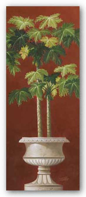 Potted Palm Red I by Welby