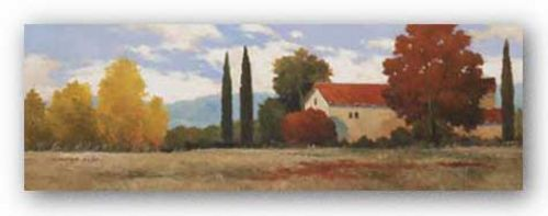 Burgundy Farmhouse I by Kanayo Ede