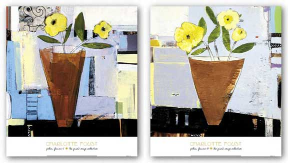 Yellow Flowers Set by Charlotte Foust