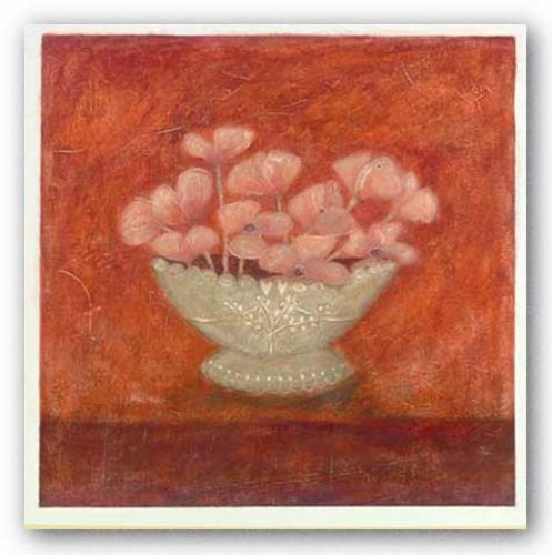 Tuscan Bowl With Flowers I by Jennifer Carson