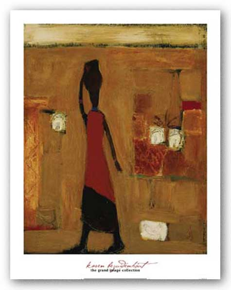 Walking Woman With Pot by Karen Bezuidenhout