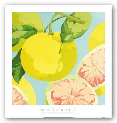 Fresh Grapefruits by Martha Negley