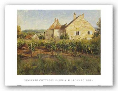 Vineyard Cottages In Jully by Leonard Wren