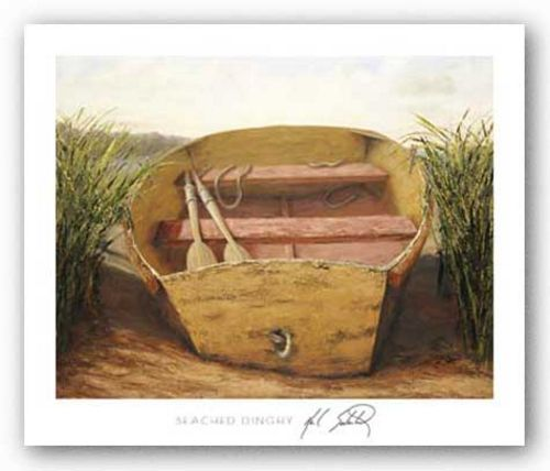 Beached Dinghy by Karl Soderlund