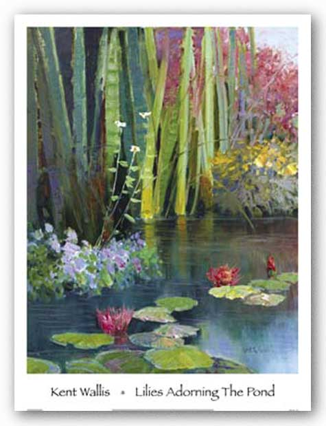 Lilies Adorning The Pond by Kent Wallis