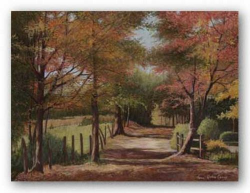 Autumn Country Road by Lene Alston Casey